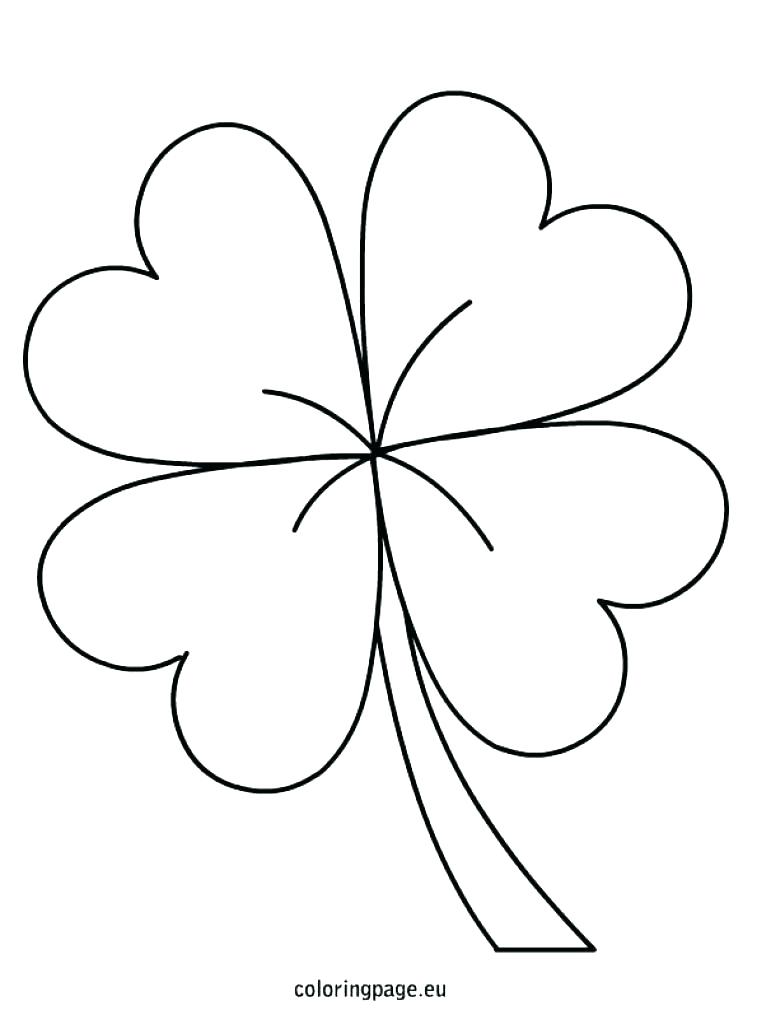 This is an image of Gratifying 4 Leaf Clover Printable