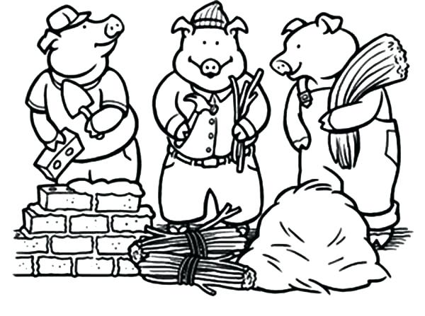 Three Little Pigs Drawing at GetDrawings.com   Free for personal use ...