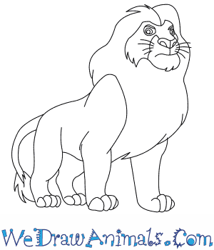 300x350 Coloring Pages Easy Drawing Of A Lion Mufasa From The King Thumb