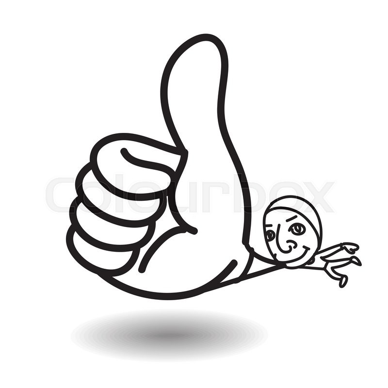 800x800 Man Show Big Thumb Up While Floating,highly Congrate Or Admire