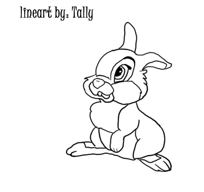 670x630 Baby Thumper Line Art By Tallybaby13