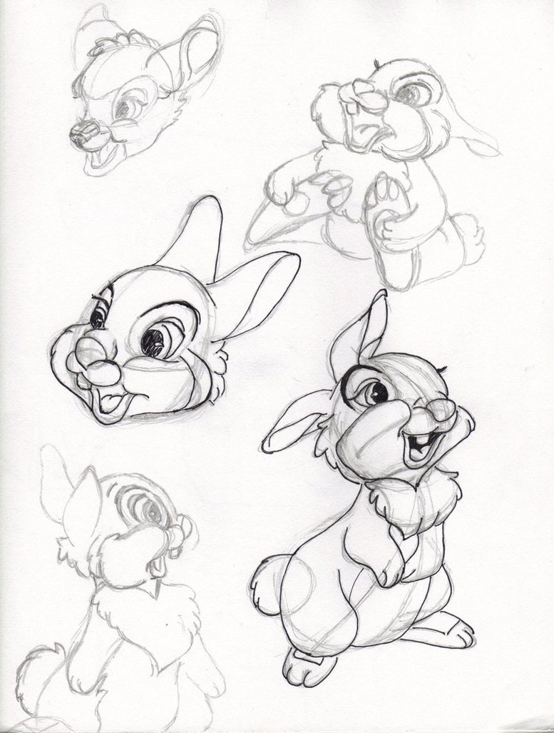 777x1027 Trying 2 Draw Disneythumper I By Cherryida