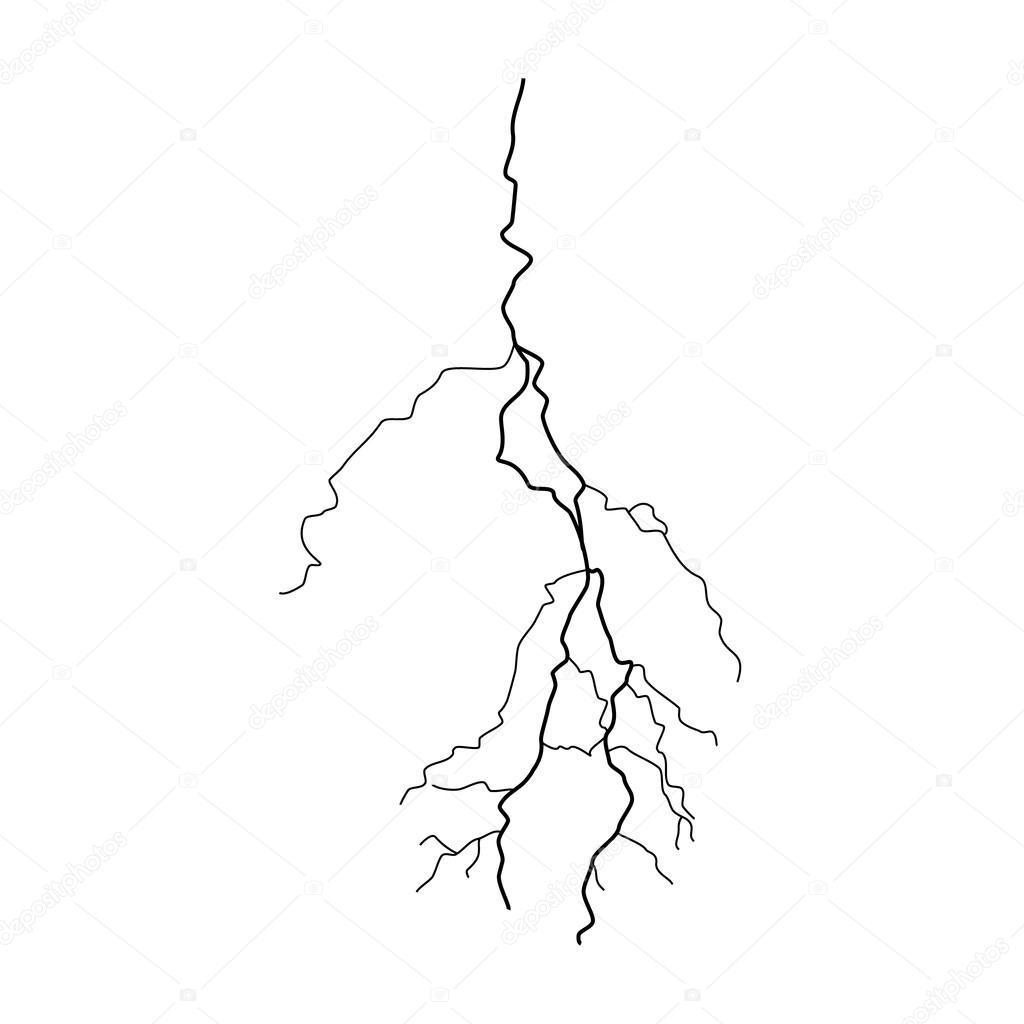 1024x1024 Thunderstorm Lightning Vector Stock Vector Viktorijareut