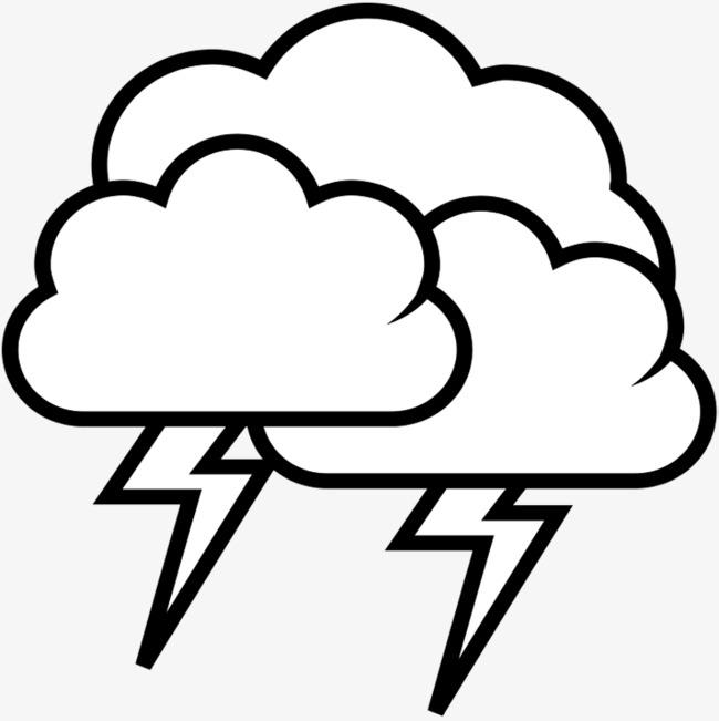 650x651 Cartoon Lightning Material, Thunder And Lightning, Thunderstorms