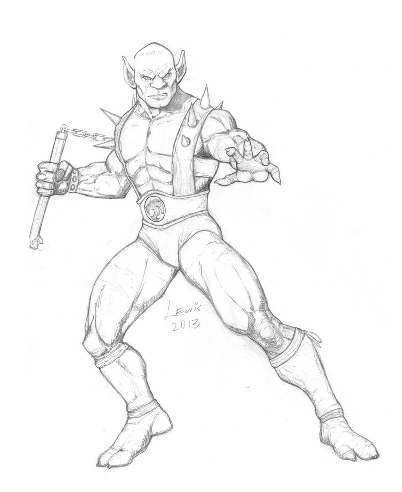 807x989 Thundercats Panthro Sketch By Trevorblewis