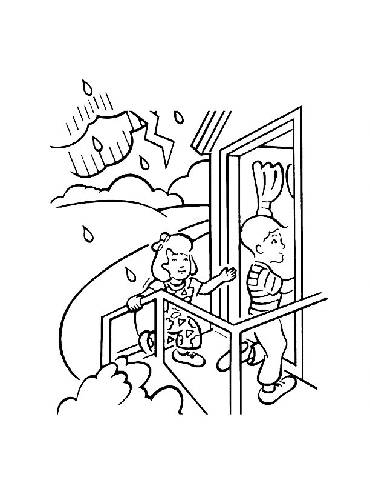 370x480 Thunderstorm Coloring Pages