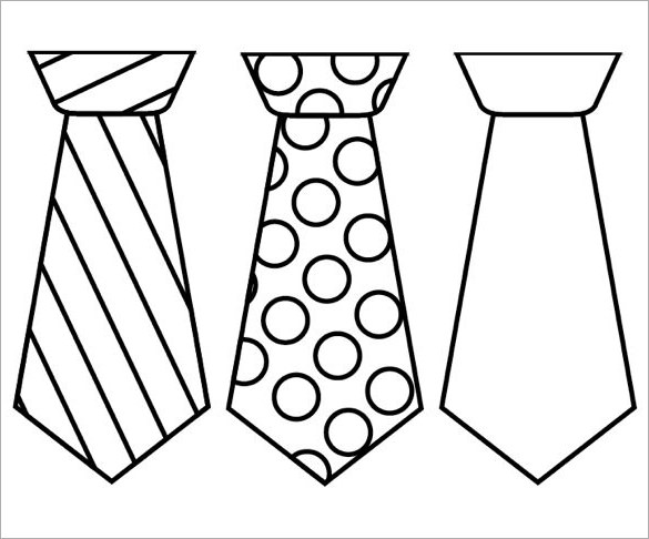 585x486 Printable Tie Templates Free Amp Premium Templates