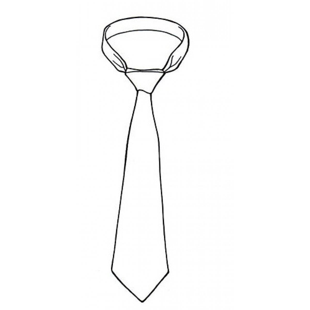 1200x1200 Drawing Of A Tie