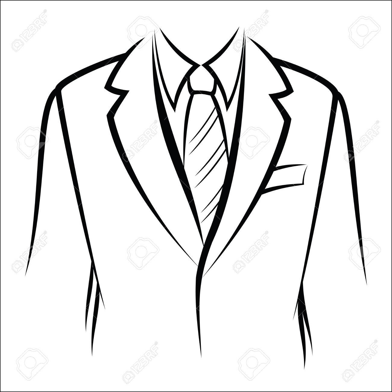 1300x1300 Jacket And Tie Royalty Free Cliparts, Vectors, And Stock