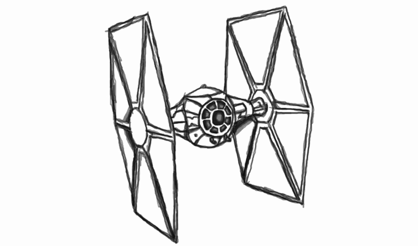 Tie Fighter Drawing