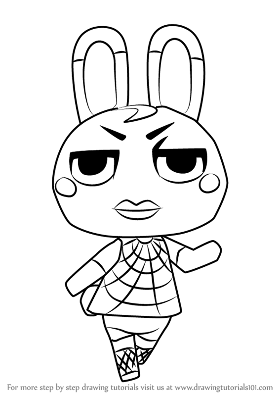 567x800 Learn How To Draw Tiffany From Animal Crossing (Animal Crossing