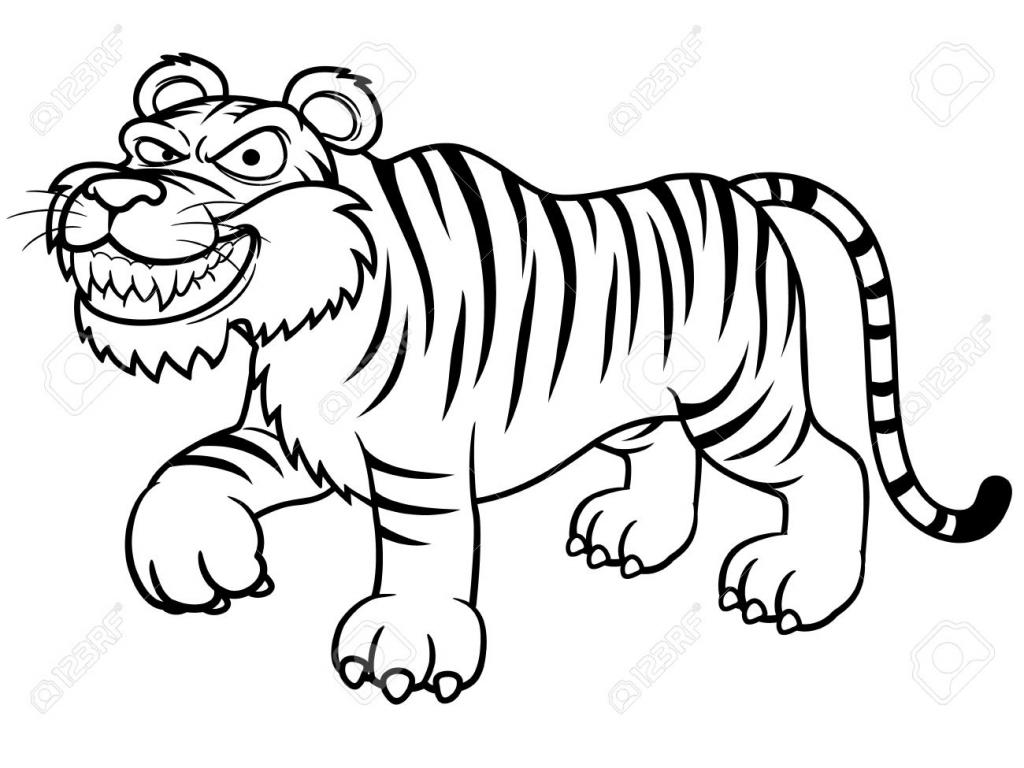 1024x768 Tiger Cartoon Drawing Tiger Cartoon Drawing Cartoon Tiger Drawing