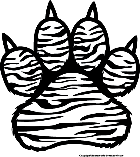462x518 Tiger Claw Clipart