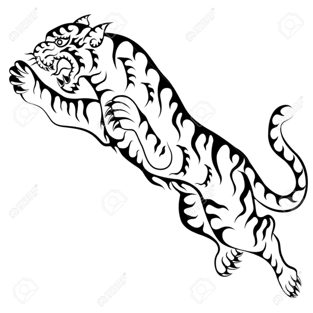 1300x1300 Tiger Tattoo Stock Photos. Royalty Free Business Images