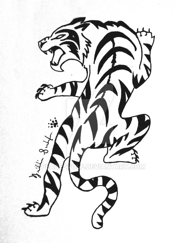 600x808 Tribal Tiger Commission By Peace Wolf