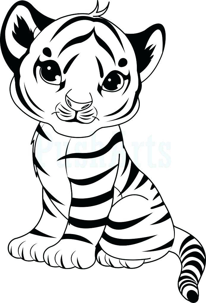 694x1024 Tiger Coloring Pages Tiger Coloring Pages To Print Cute Tiger Cub