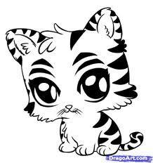 218x232 How To Draw A Tiger Cub, Tiger Cub Step 9 Tiger Party