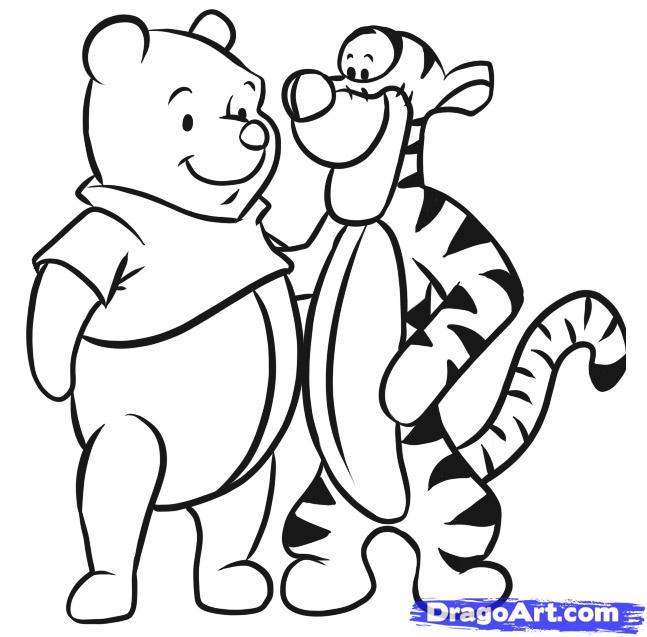 647x637 Drawn Tiger Tigger