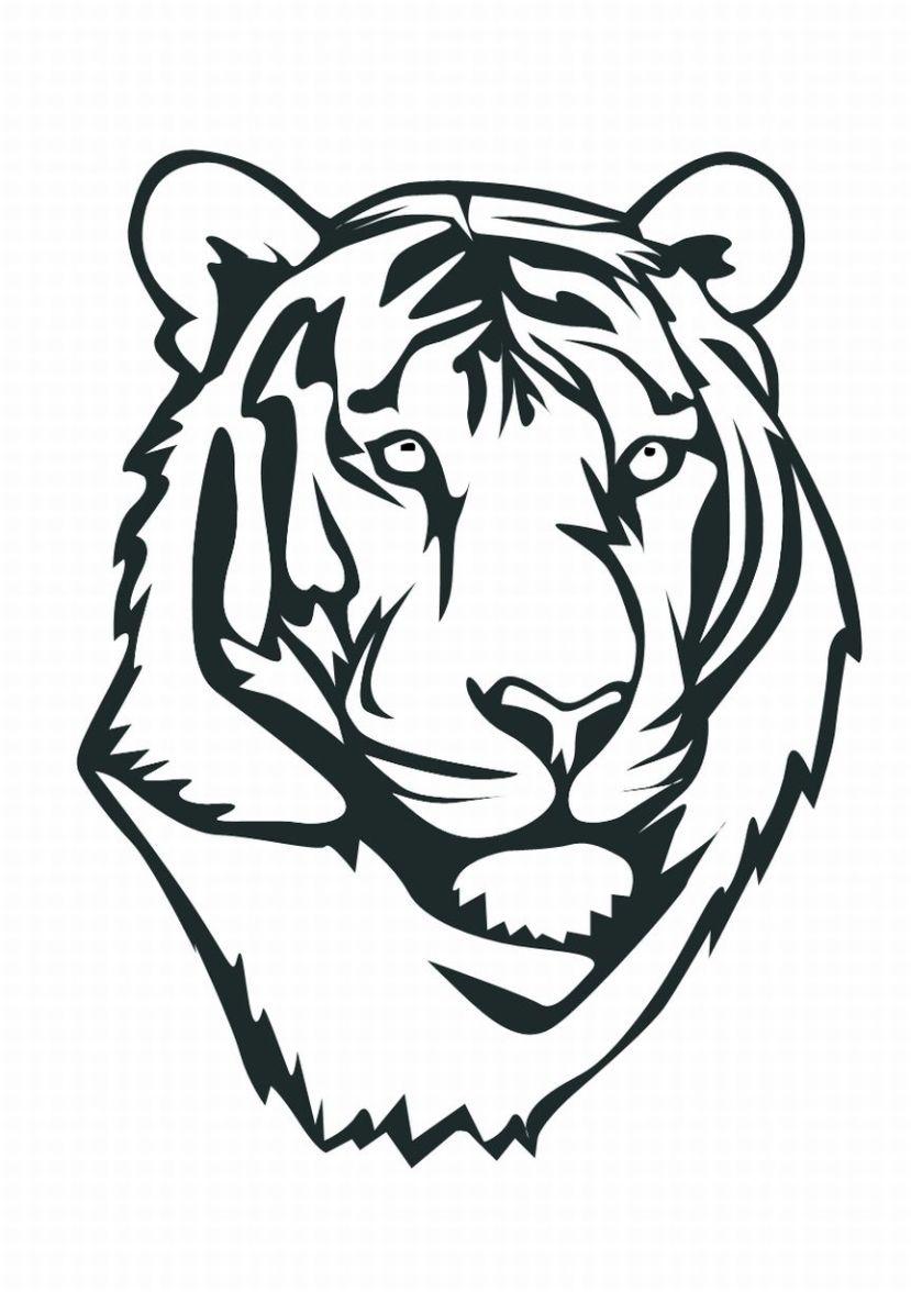 829x1176 Drawn Face Tiger