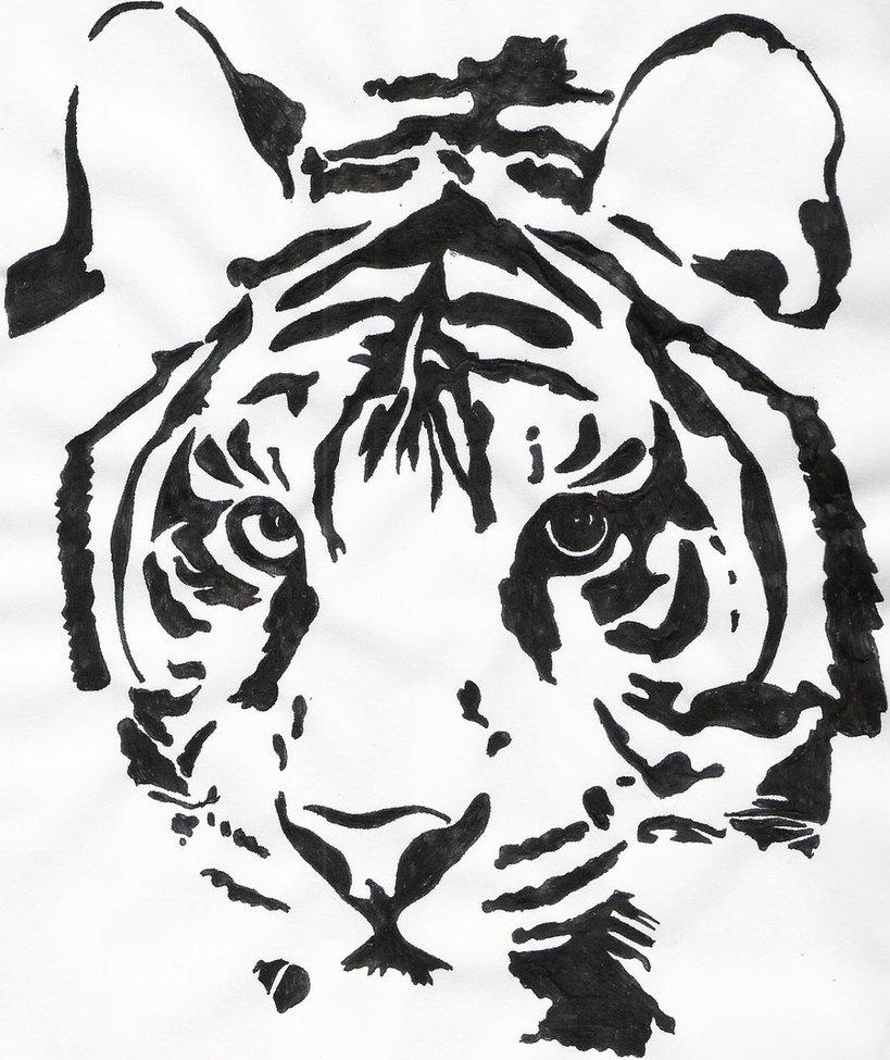 819x975 Tiger Outline By HadesGodoftheDead On DeviantArt