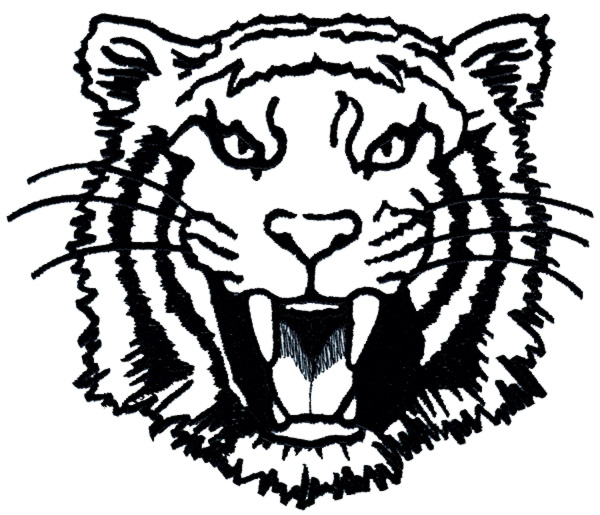 600x515 Tigers Outline Embroidery Design From Grand Slam Designs Grand