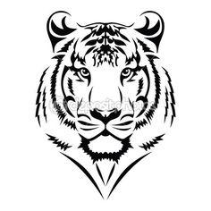 236x236 Blue Watercolor Tiger Tattoo Design Watercolor Tiger, Tiger