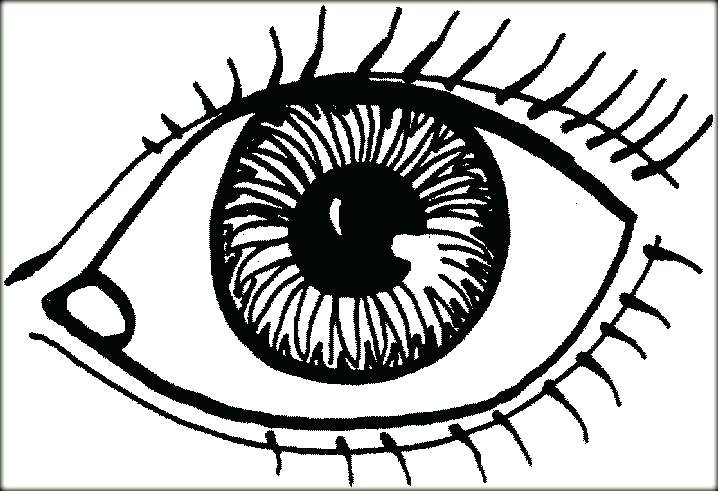 718x491 Eyes Coloring Pages Terrific Eye Page