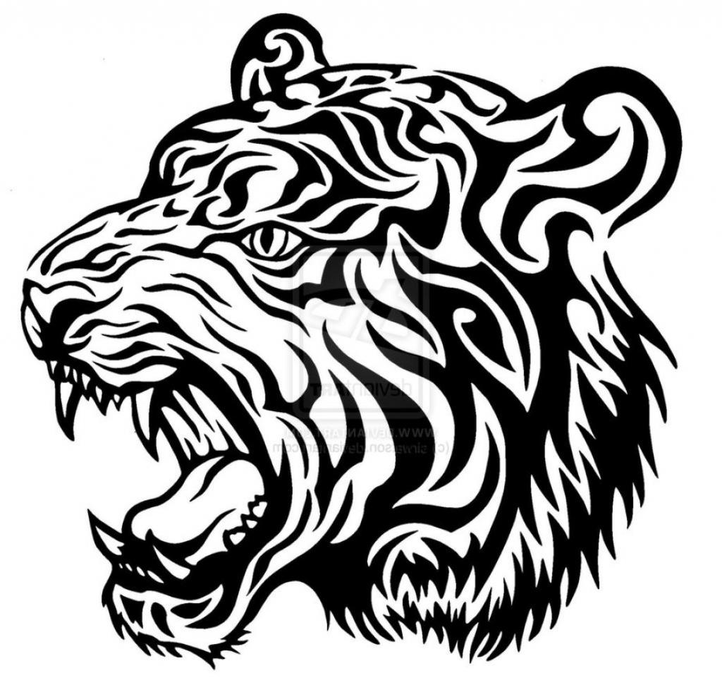 1024x971 Tiger Face Line Drawing Tiger Face Line Drawing Tiger Head Line