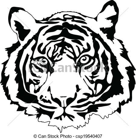 450x463 Tiger Head Clip Art