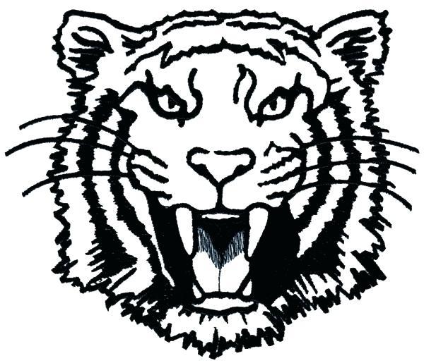 600x515 Tiger Outline Tiger Outline Drawing Best Tiger Face Outline Tattoo