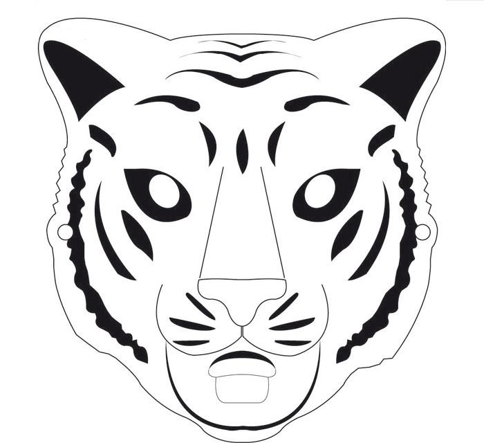 700x640 Animal Mask Template