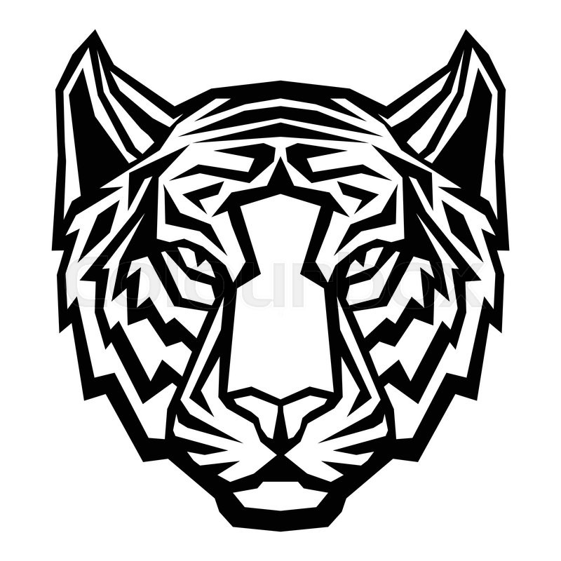 tiger head drawing at getdrawings com free for personal use tiger rh getdrawings com Black and White Tiger Vector Auburn Tiger Head