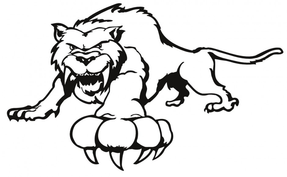 940x580 outline of a tiger388463 - Coloring Pages Of Tigers