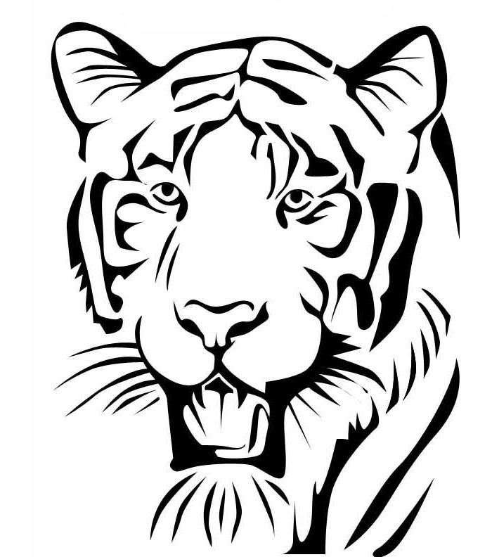700x792 Tiger Face Stencil Group