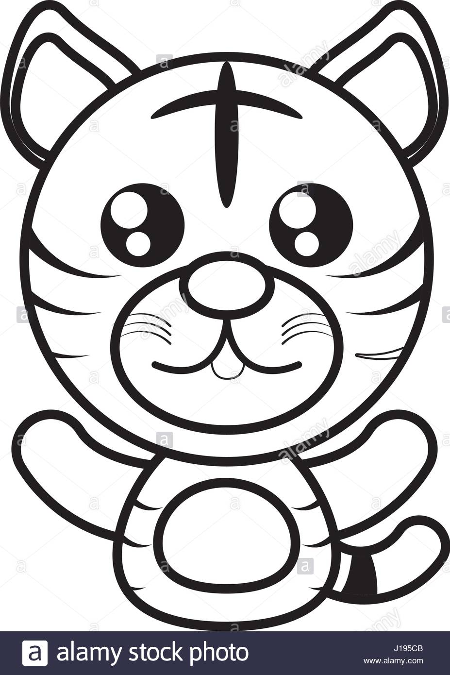 927x1390 Tiger Animal Toy Outline Stock Vector Art Amp Illustration, Vector