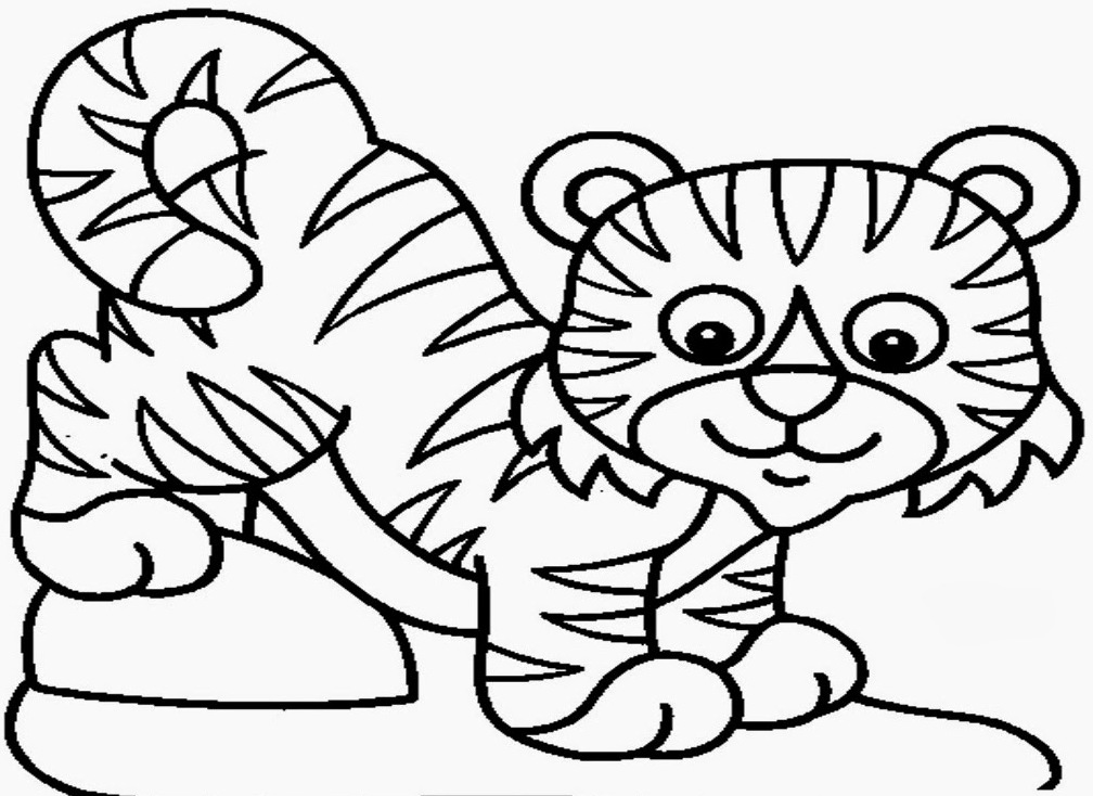 1008x734 Baby Tiger Coloring Pages
