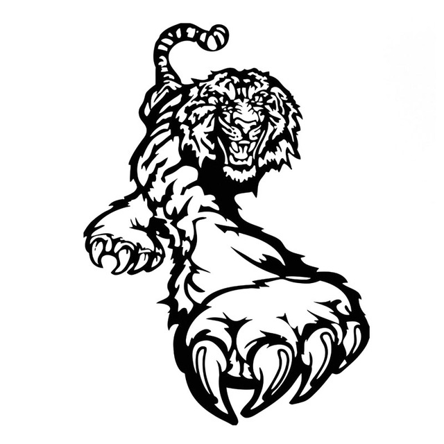 Tiger Paw Drawing