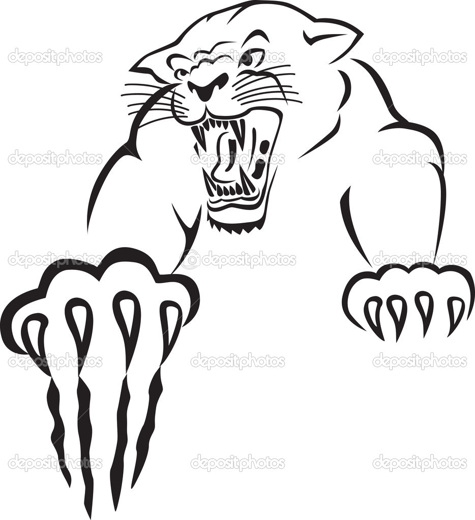 934x1023 Tiger Scratching Clipart