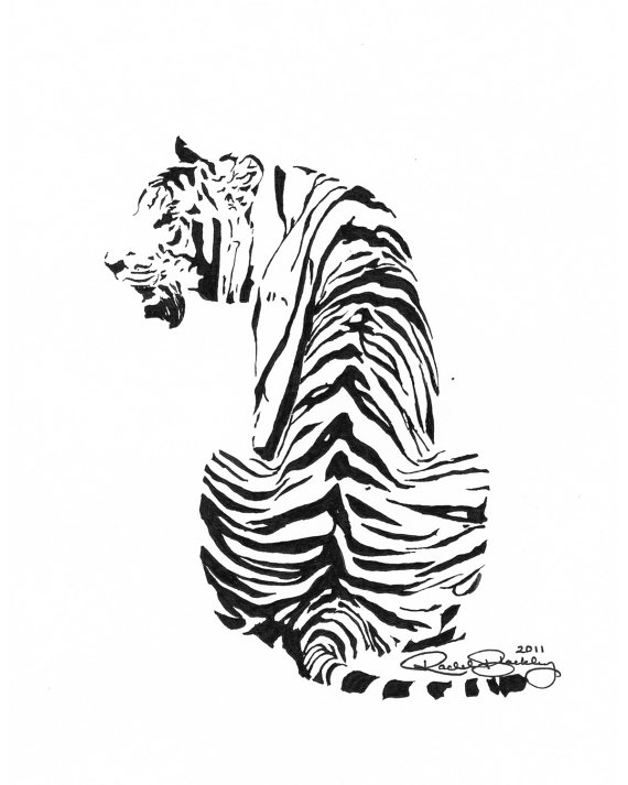 570x713 Sitting Tiger