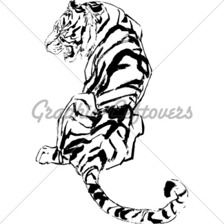 325x325 Sketch Vector Illustration Of Tiger Gl Stock Images