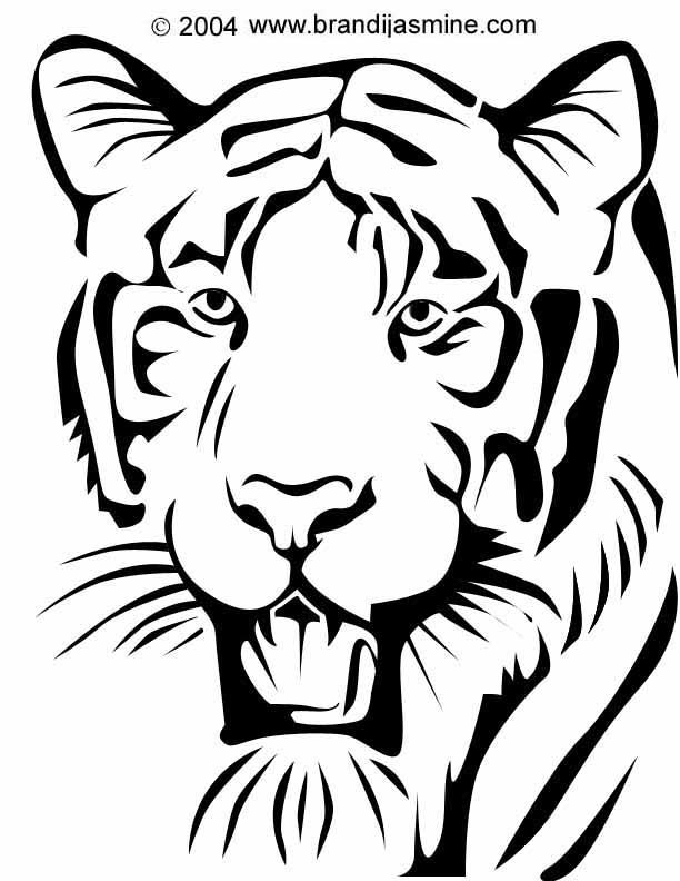 612x792 Tiger Pumpkin Carving Pattern