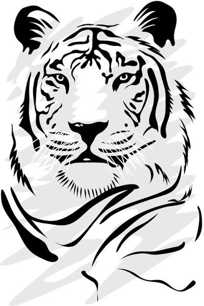 400x600 Tiger Drawings Clip Art Free Vector Download (214,847 Free Vector