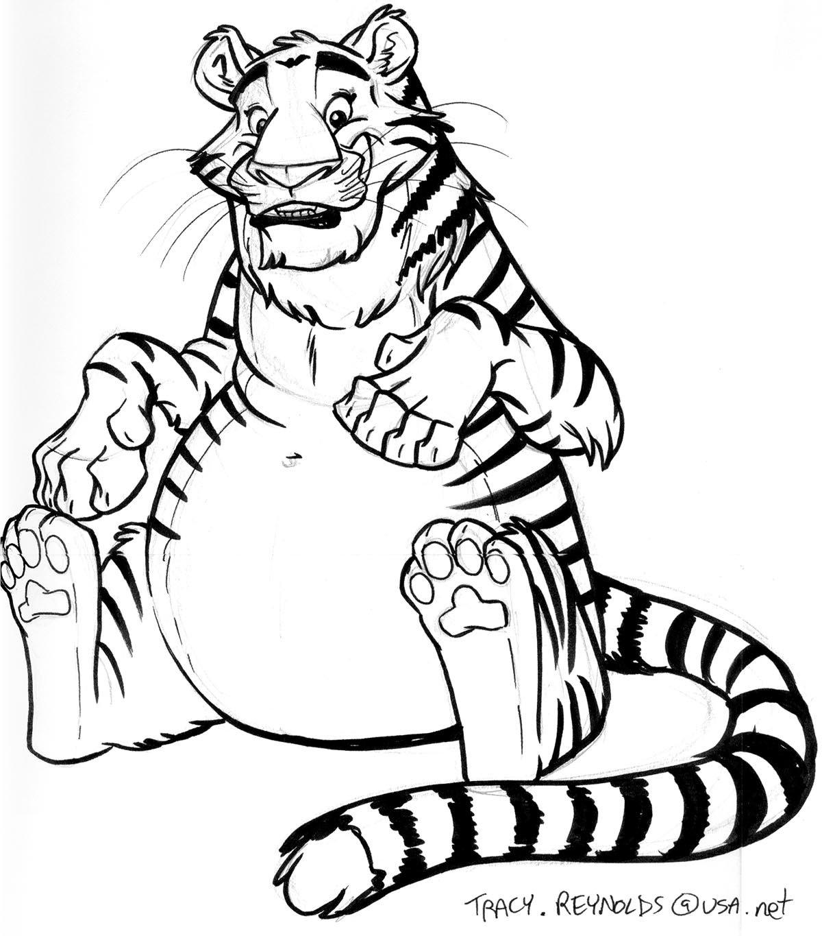 1200x1365 Fat Tiger By Calicougar