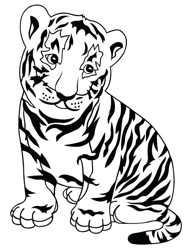 670x867 Tiger Coloring Pages To Print Drawn Tiger Coloring Page Tiger