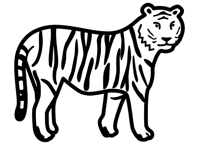 700x510 60 Tiger Shape Templates Crafts Amp Colouring Pages Free