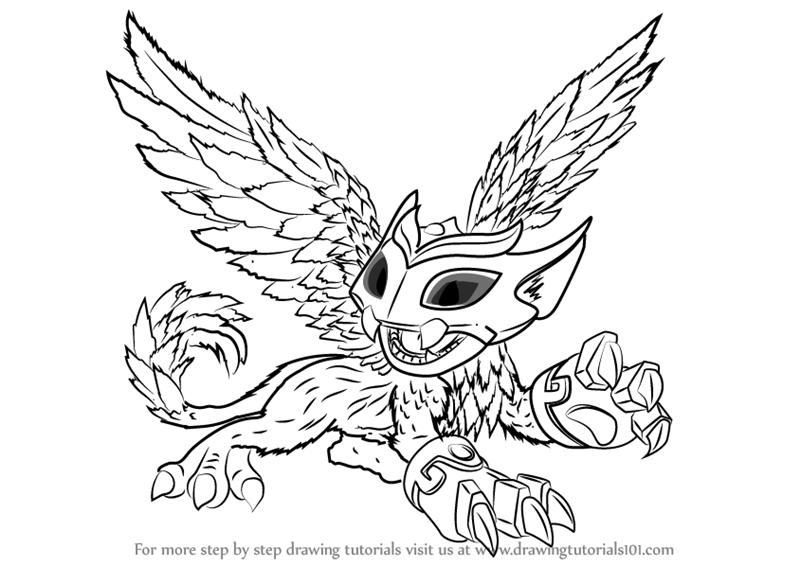 800x566 Learn How To Draw Scratch From Skylanders (Skylanders) Step By