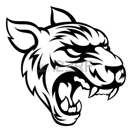 449x450 Tiger Animal Sports Mascot Character Ripping Through