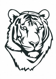 236x334 Tiger Head Outline Tiger Eyes Black And White Clipart Panda