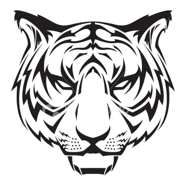 380x380 Vector Illustration Of A Tiger Head. Tiger Head Tattoo, Head