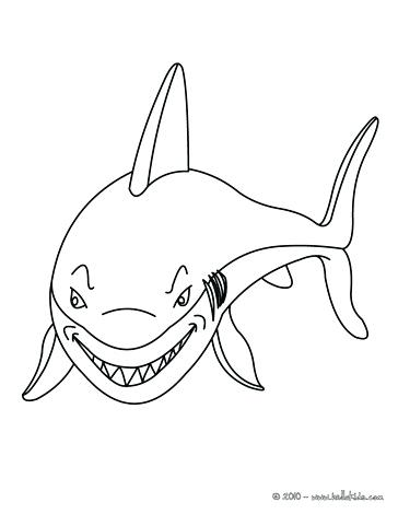 364x470 Sharks Coloring Pages Smiling Shark Smiling Shark Coloring Page